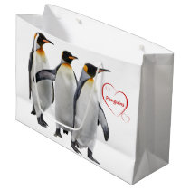 Love Penguins Gift Bag (Choose Your Colour)