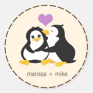 Love Penguins Sticker Stickers