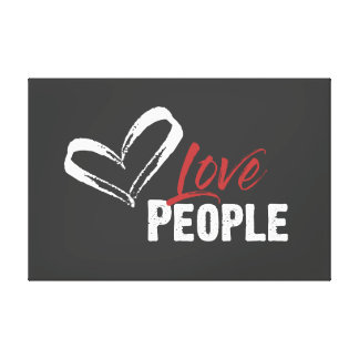 Love People Wrapped Canvas