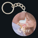 """Love Personalized Photo Couple's Key chain<br><div class=""""desc"""">Add your favorite picture of your significant other to this sweet couple's key chain. Makes a great gift for Valentines Day,  anniversary or just to say I love you.</div>"""