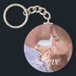"Love Personalized Photo Couple's Key chain<br><div class=""desc"">Add your favorite picture of your significant other to this sweet couple's key chain. Makes a great gift for Valentines Day,  anniversary or just to say I love you.</div>"