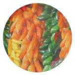 Love Peruvian Food - Chiles Orange Green Yellow Plate