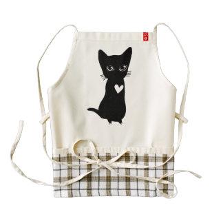 love pet black cat apron