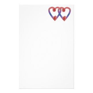 Love Petals~two w/roses Stationery