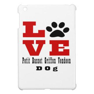 Love Petit Basset Griffon Vendeen Dog Designes iPad Mini Cases