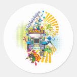 Love, Philippines Classic Round Sticker