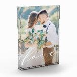 "Love Photo Block<br><div class=""desc"">This custom wedding photo block features a romantic script font.</div>"