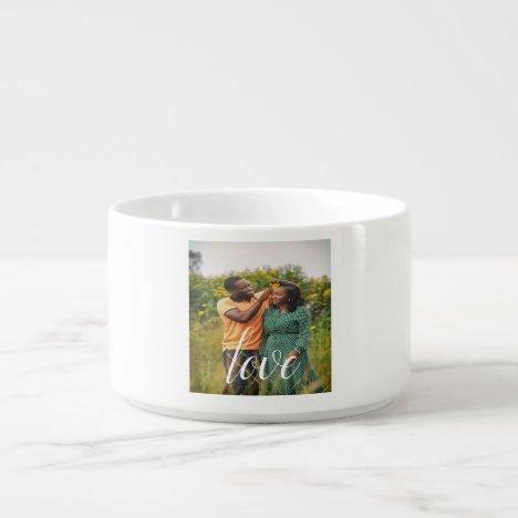 Love Photo Chili Bowl