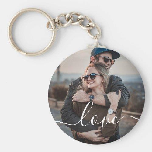 Love Photo Simple Keychain