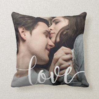 Love Photo Template Throw Pillow