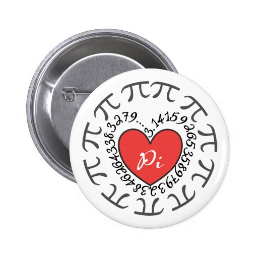 Love Pi 3.14 Pinback Buttons