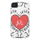 Love Pi 3.14 iPhone 4 Case-Mate Case
