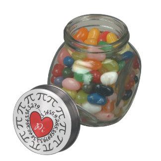 Love Pi 3.14 Jelly Belly Candy Jar