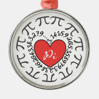 Love Pi 3.14 Metal Ornament