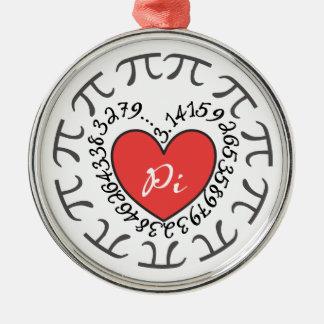 Love Pi 3.14 Ornament