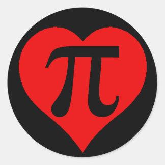 Love Pi Classic Round Sticker