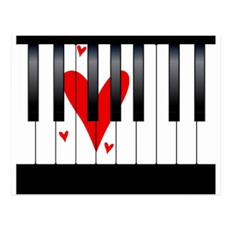 Love Piano Postcard