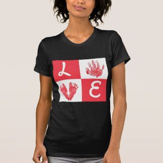 love.pied and hand dregs T-Shirt