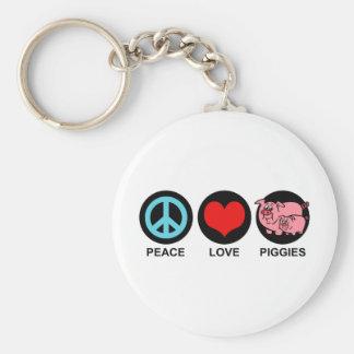 Love Piggies Keychain