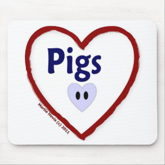 Love Pigs Mouse Pad