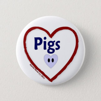 Love Pigs Pinback Button
