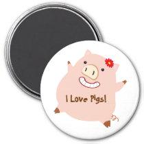 Love Pigs (pretty pig) Magnet