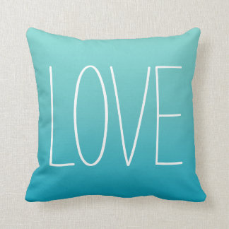 Love Pillow | Turquoise Blue
