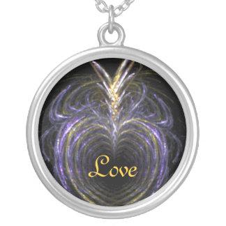 Love Pineapple Round Pendant Necklace