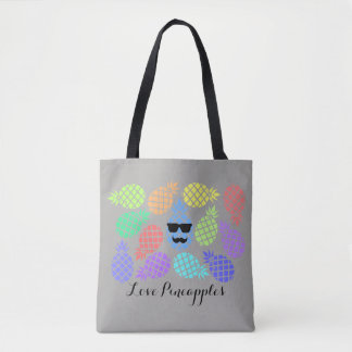 """Love Pineapples"" Colorful Tote Bag"