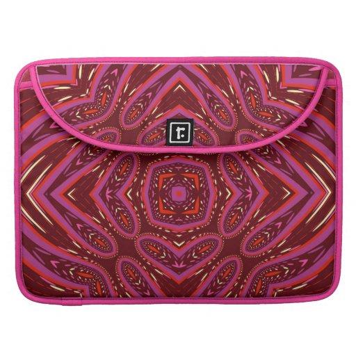 Love Pink Batik Geometry Fusion Laptop Sleeve