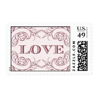 Love - pink by Ceci New York Postage Stamp