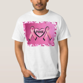 LOVE PINK CAMO AND PINK RIBBONS T-Shirt