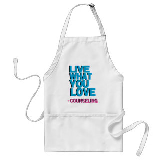 Love Pink Counseling Gifts Adult Apron