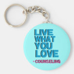 Love Pink Counseling Gifts Basic Round Button Keychain
