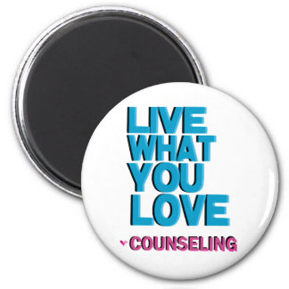 Love Pink Counseling Gifts Magnet