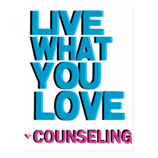Love Pink Counseling Gifts Postcard