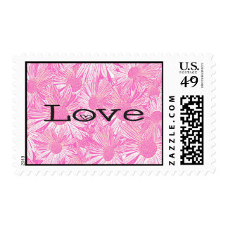 Love Pink Daisy Floral US Postage Stamps