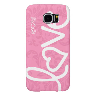 love - pink damask pattern samsung galaxy s6 case