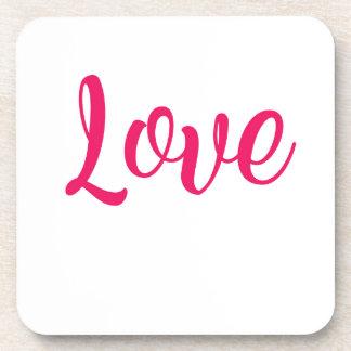 Love Pink Drink Coaster