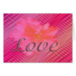 Love pink flower greeting card
