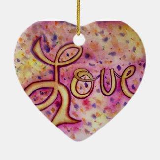 Love Pink Glamorous Art Painting Ornament