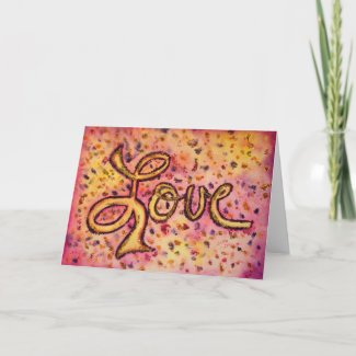 Love Pink Glamorous Glitter Greeting or Note Cards