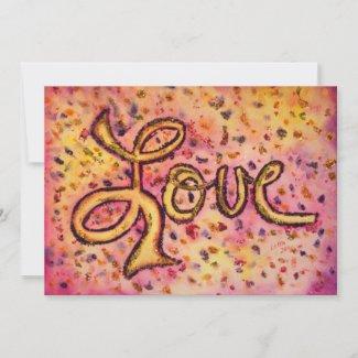 Love Pink Glamorous Glitter Invites or Invitations