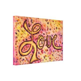 Love Pink Glamorous Glitter Painting Canvas Print