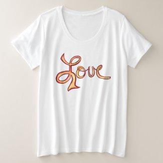 Love Pink Glamorous Inspirational Art Shirts