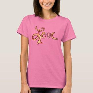 Love Pink Glamorous Inspirational Art T-Shirts