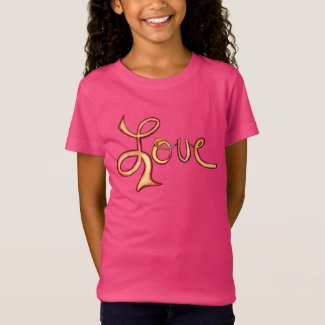 Love Pink Glamorous Inspirational Art Tee Shirts