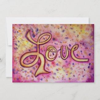 Love Pink Glamorous Invites or Invitations
