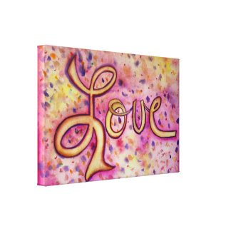 Love Pink Glamorous Painting Canvas Art Print