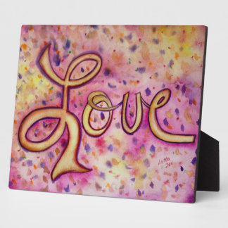 Love Pink Glamorous Painting Poem Plaque